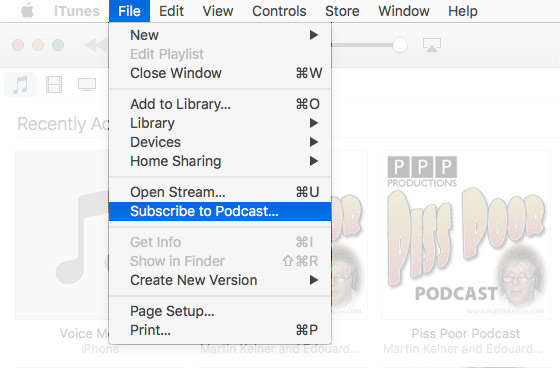 How to set up iTunes subscription to podcast.