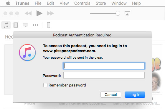 How to set up iTunes subscription to podcast. Step 3.